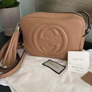 Gucci Soho Disco Crossbody Bag (Beige)